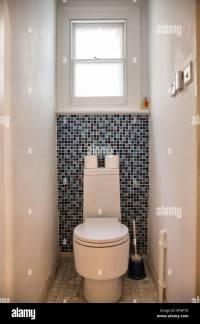 Small Toilet with Mosaic Tiles Stock Photo: 78430004 - Alamy