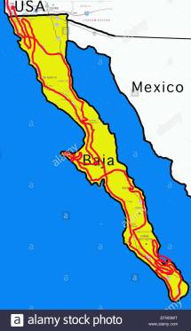 Map Of Northwestern Mexico And Baja Imgurl