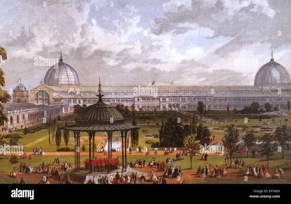 Great Exhibition Of 1851 In Hyde Park Showing Crystal Palace Stock 78669308 - Alamy