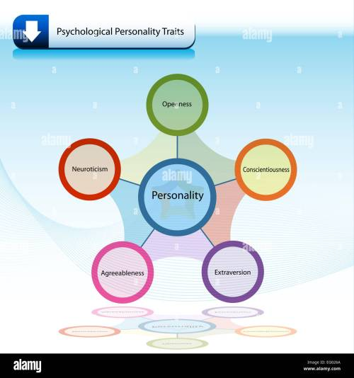 small resolution of an image of a psychological personality traits chart diagram