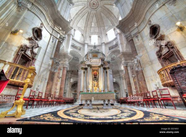 Cathedral Interior Cadiz Andalusia Spain Stock 78713405 - Alamy