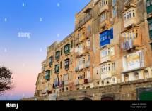 Street In Town La Valletta Malta Stock