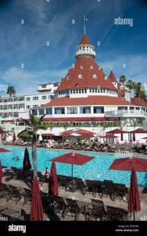 Hotel Del Coronado Swimming Pool Stock &