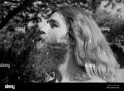 portrait of hippie man with beard