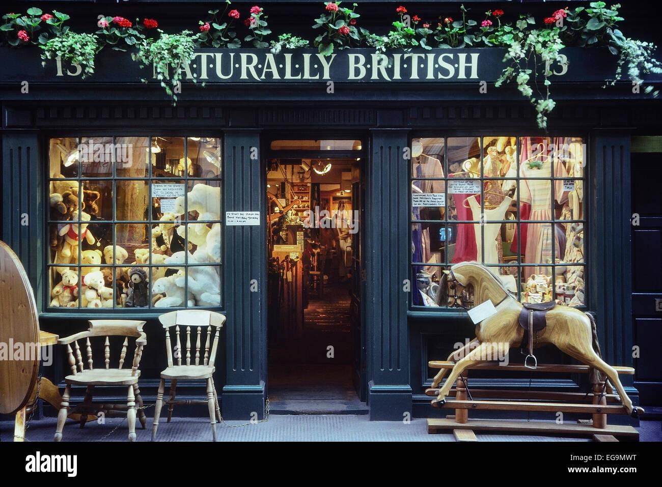 Naturally British shop facade. London. UK Stock Photo, Royalty Free Image: 78889940 - Alamy
