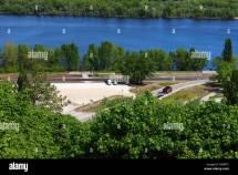 Dnipro River Beach Stock &