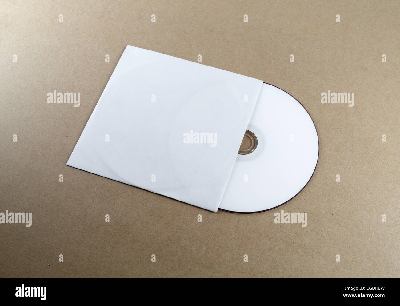 Blank Compact Disk On A Table. Template For Branding Identity For Designers.