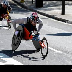 Wheelchair Marathon Chair Design Set Disabled Athlete Taking Part In The London