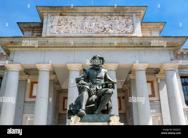 Diego Velazquez Prado Statue