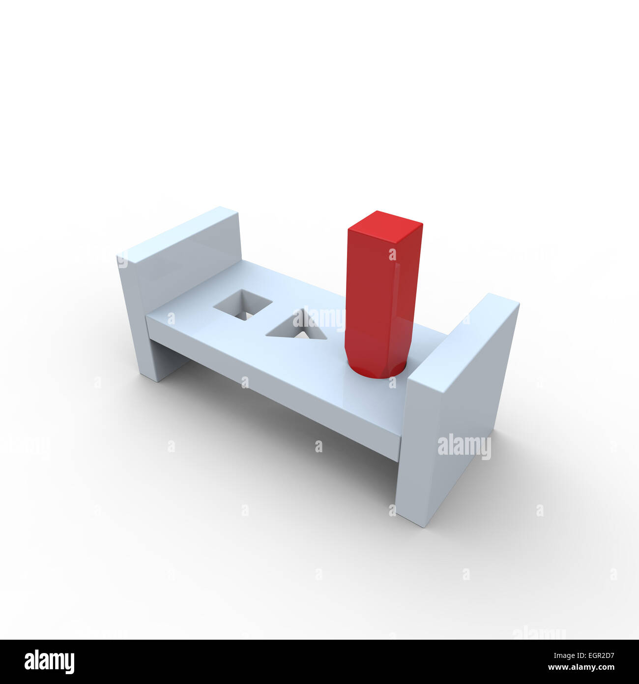 Square Peg And Round Hole Stock Photos  Square Peg And