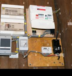circuit board fuses fuse boards breaker breakers panel panels wiring household building electrician electricians stock [ 1300 x 953 Pixel ]