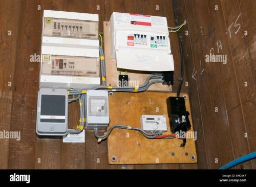 small resolution of circuit board fuses fuse boards breaker breakers panel panels wiring household building electrician electricians stock