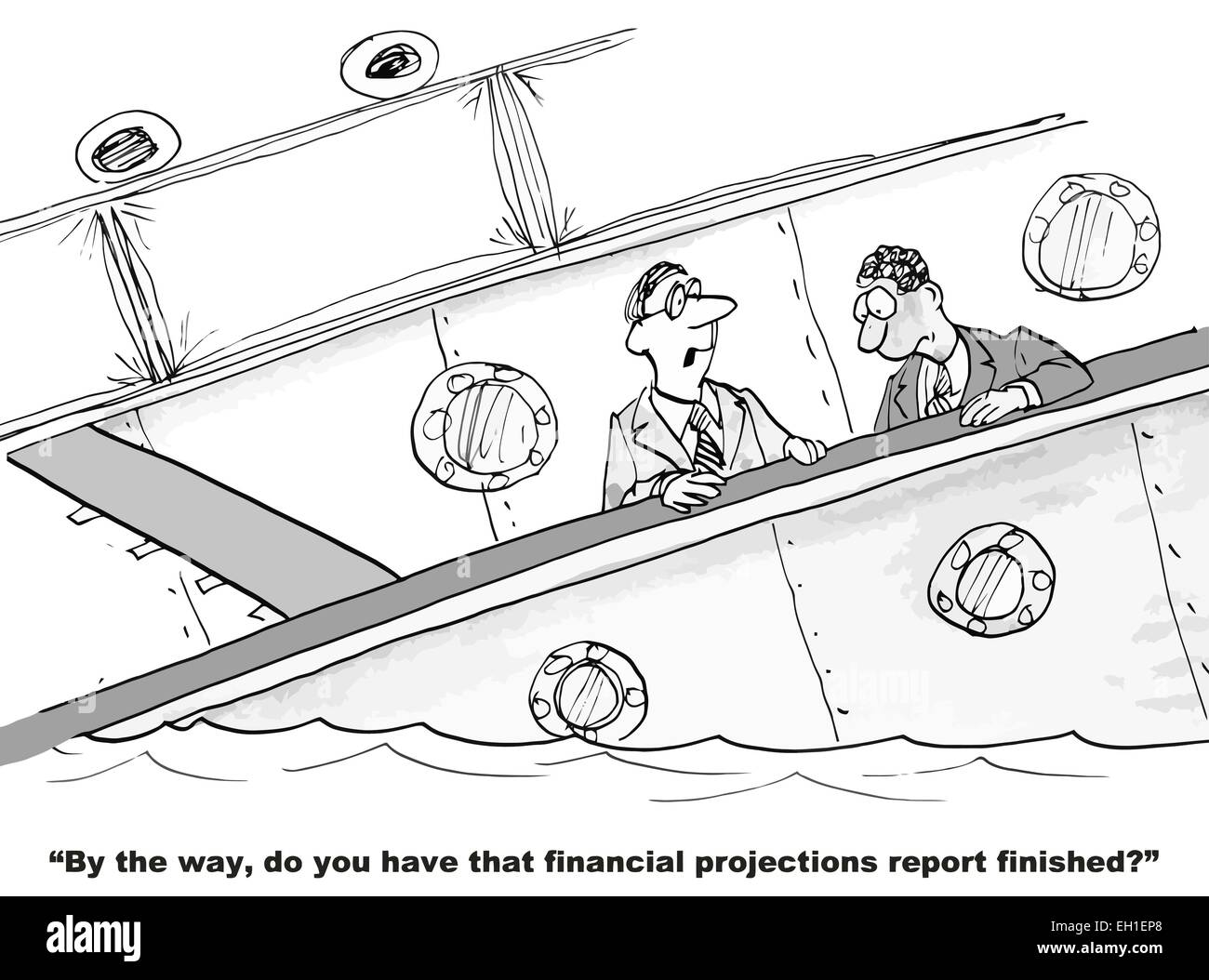 Cartoon Of Sinking Ship Business Boss Asks Do You