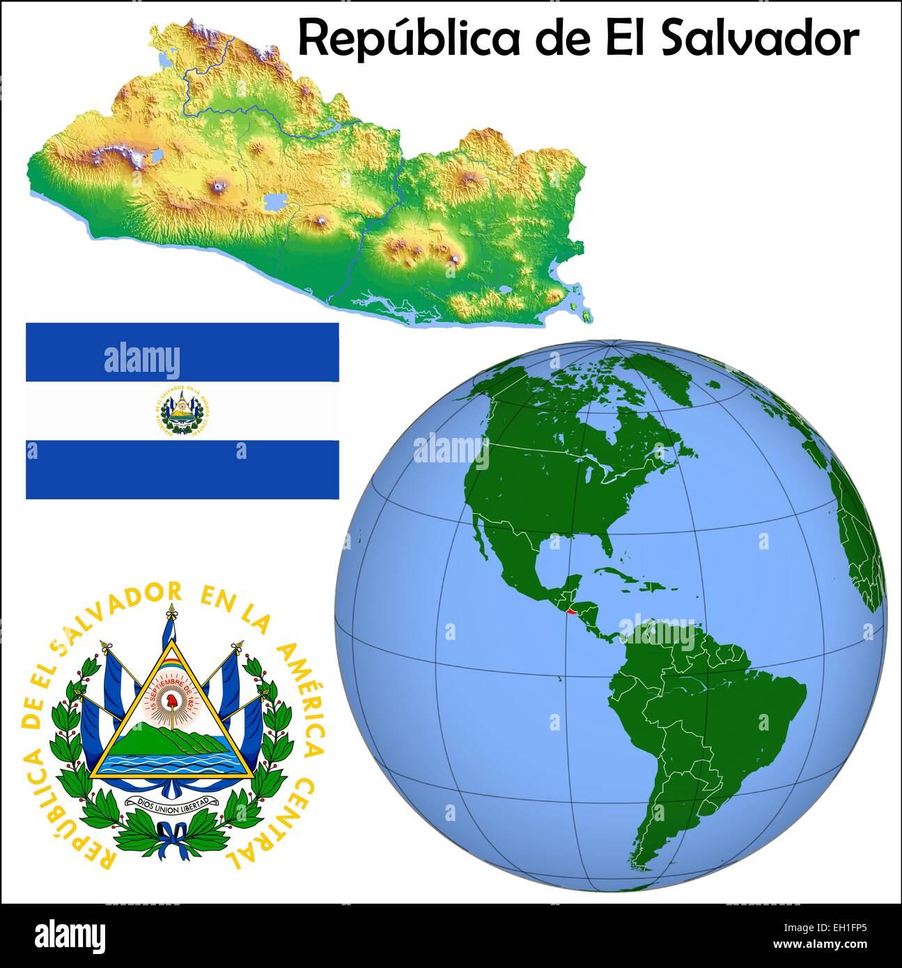 El Salvador Location In World Map Image Collections