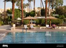 Pool Winter Palace Hotel Luxor Egypt Stock