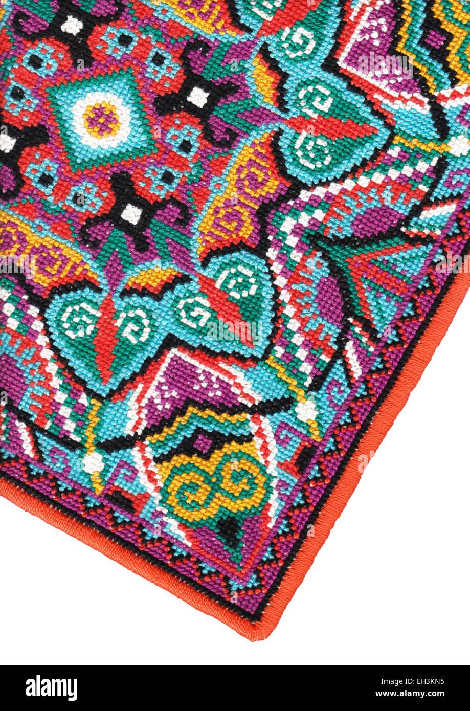 Ukrainian authentic embroidery carpet Stock Photo