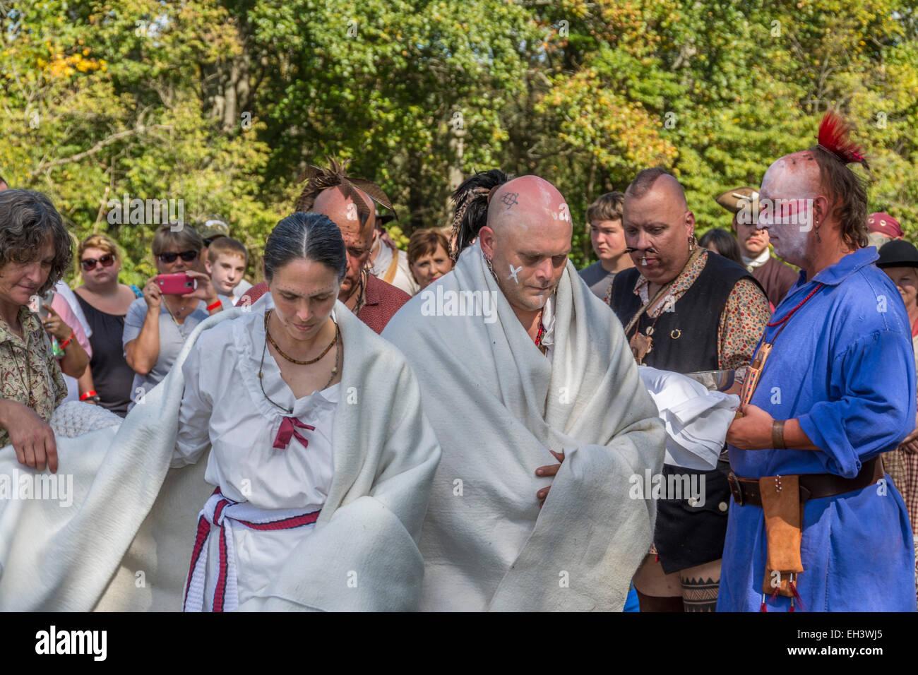 Traditional Cherokee Native American wedding ceremony