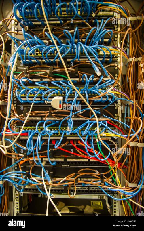 small resolution of complex wiring in computer server air conditioned machine room