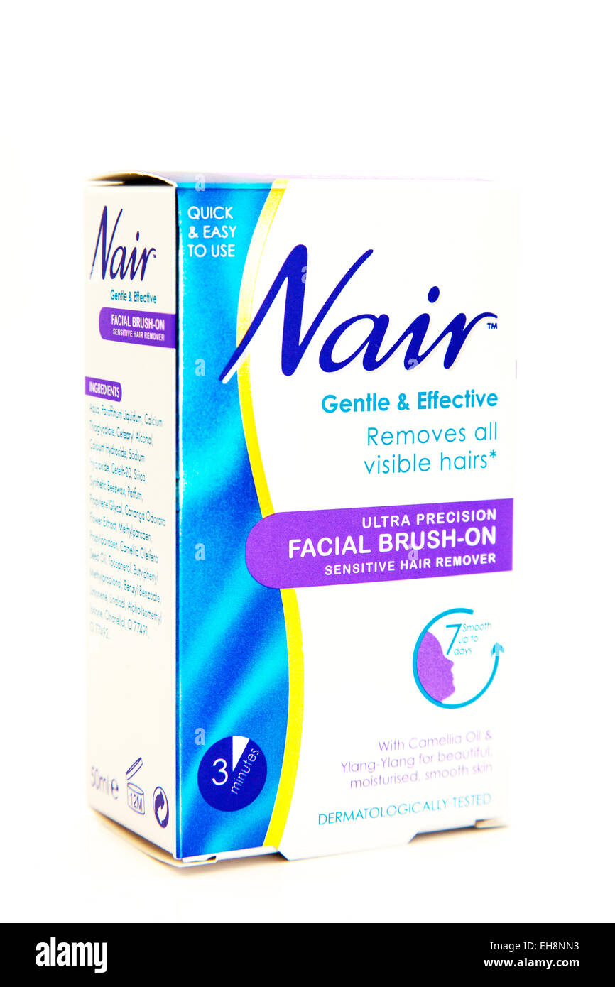 hight resolution of nair hair removal facial hairs cream remover logo box product cutout white background copy space isolated