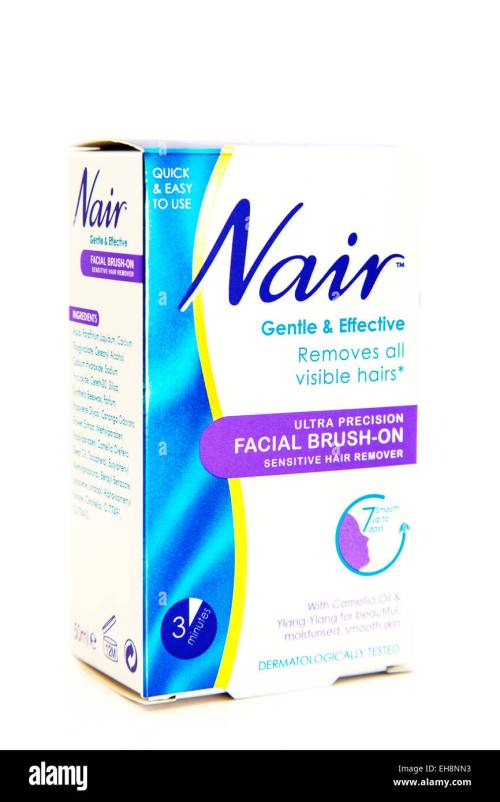 small resolution of nair hair removal facial hairs cream remover logo box product cutout white background copy space isolated