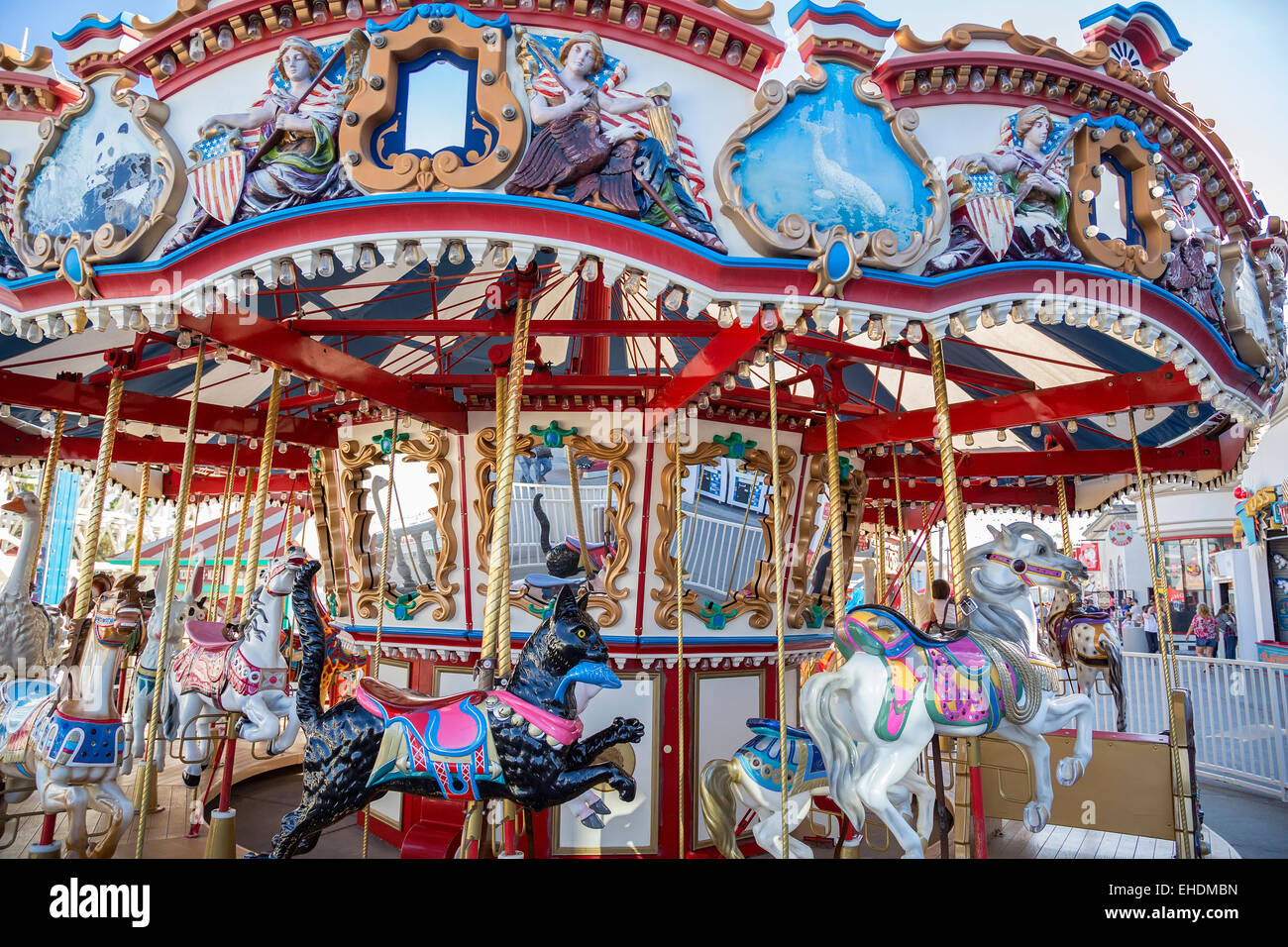 hight resolution of colorful carousel at belmont park san diego california