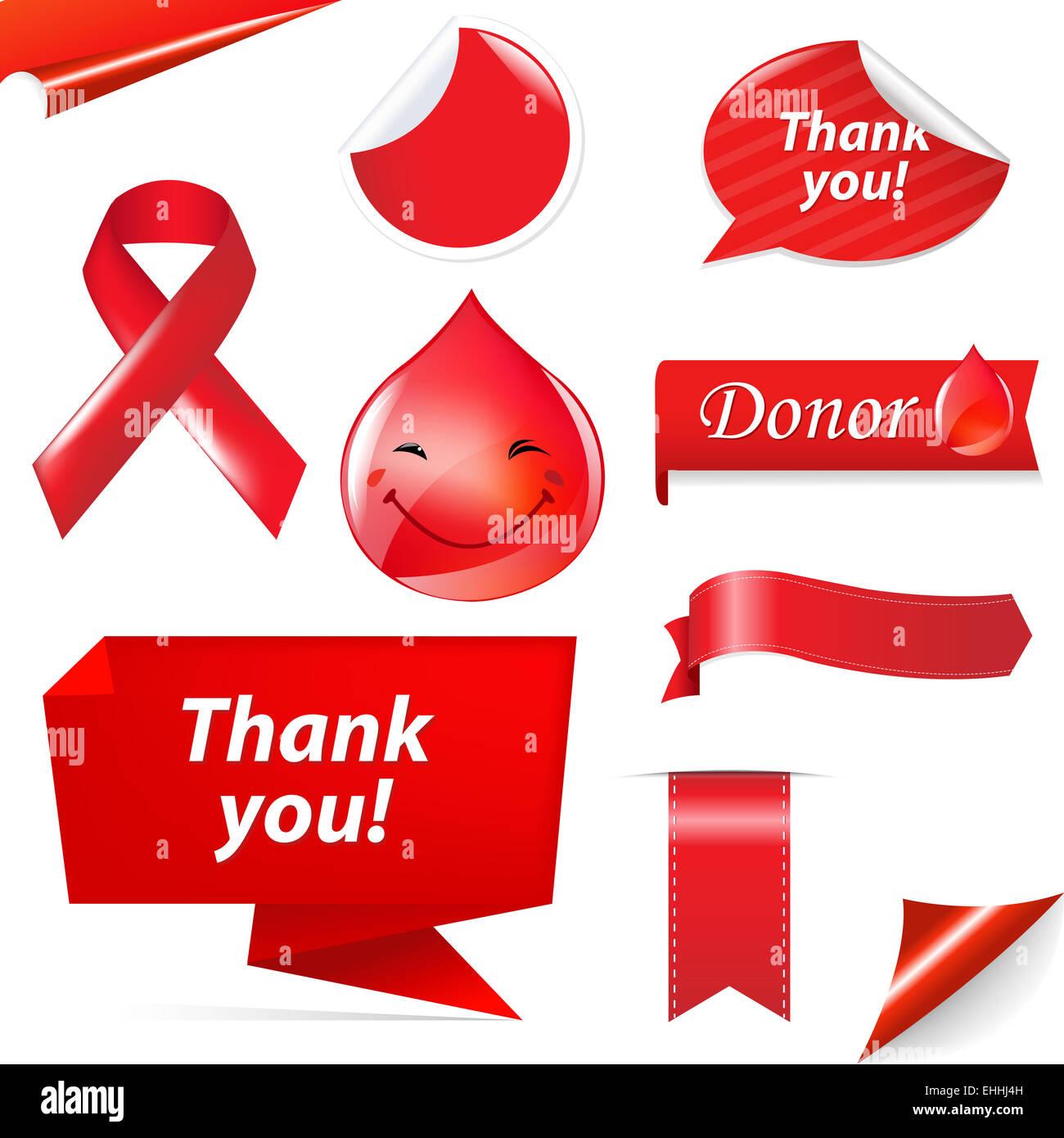 hight resolution of blood donation set