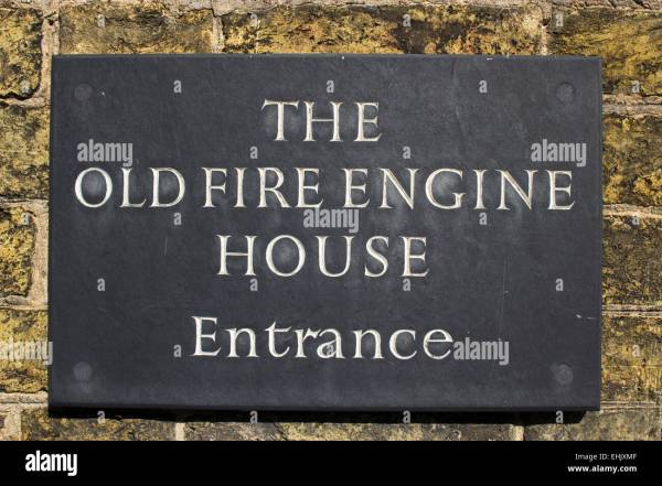 Fire Engine House Restaurant And Art Entrance Sign Stock Royalty Free