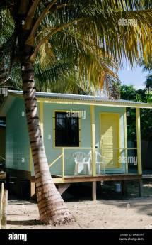 Caye Caulker Belize Barefoot Beach Stock &