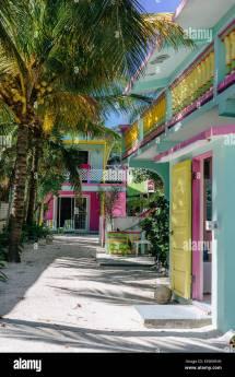 Barefoot Beach Caye Caulker Belize Stock Royalty