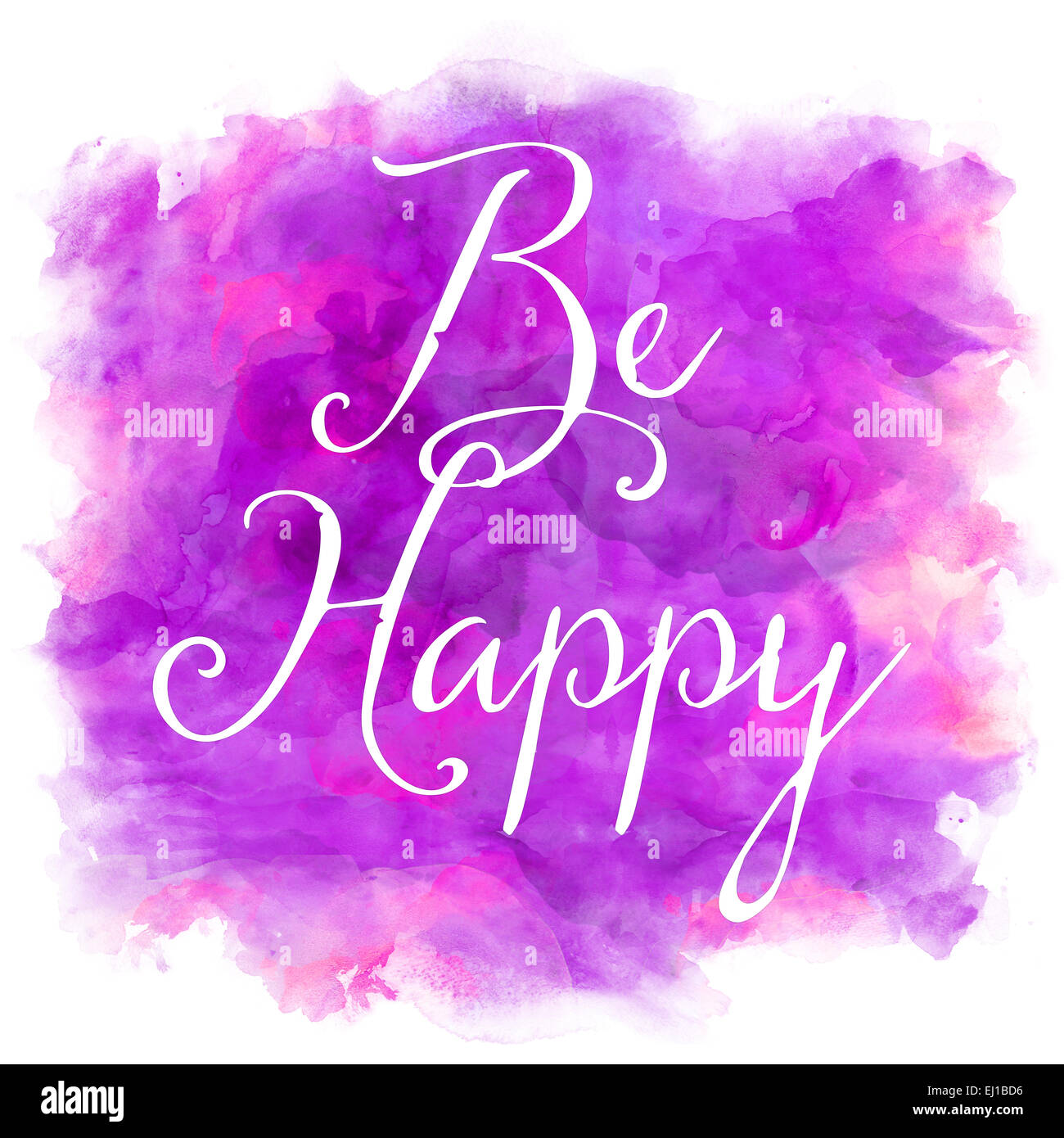 be happy purple and