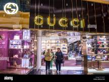 Exterior Of Gucci Store In Las Vegas Strip Stock