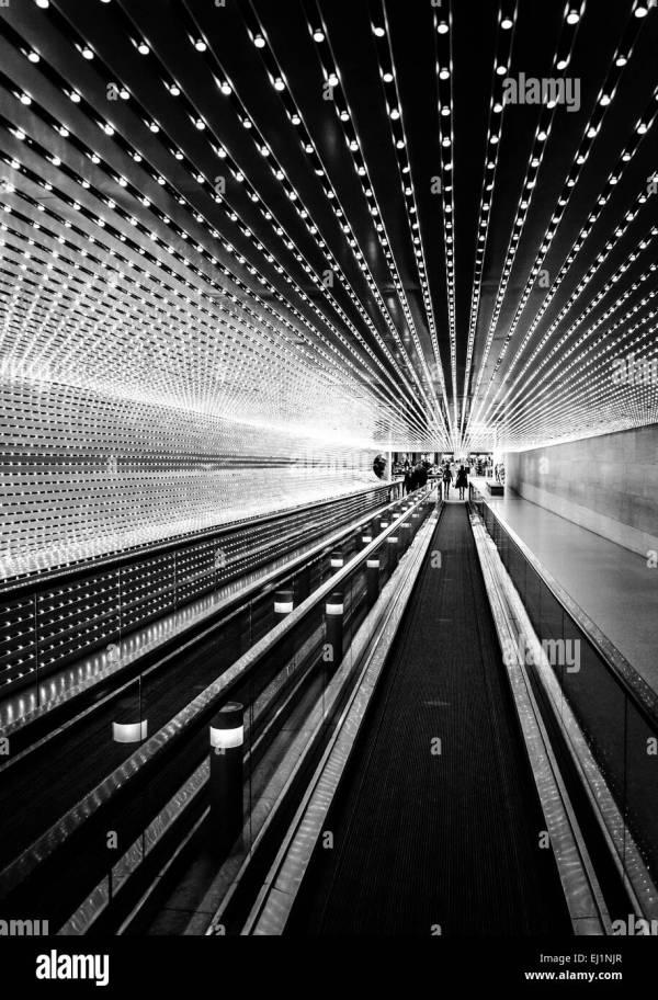 Dark Hallway Black And White Stock & - Alamy