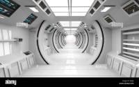 Futuristic interior SCIFI architecture Stock Photo ...