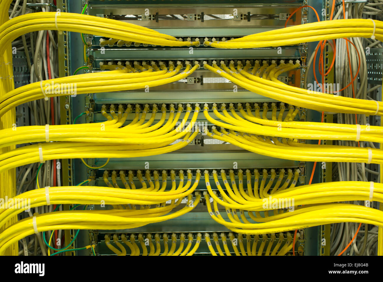 Wiring Diagram Of Network Cable Network Lan Patch Panel Stock Photo 80093563 Alamy