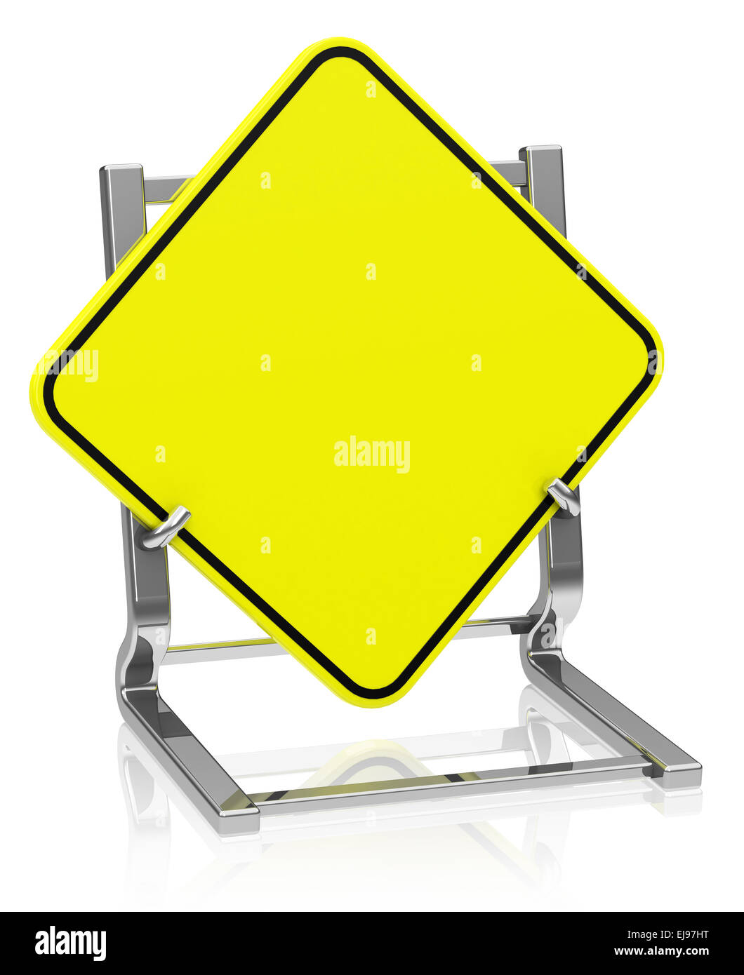 The Blank Traffic Sign Stock Photo