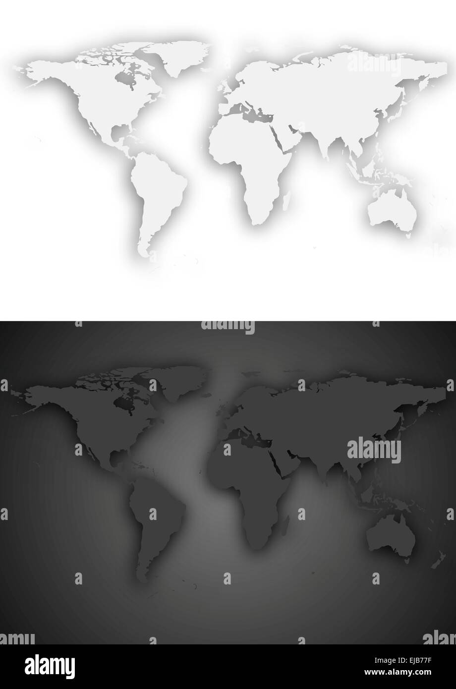 Dark And Light Map : light, Light, World, Design, Stock, Photo, Alamy
