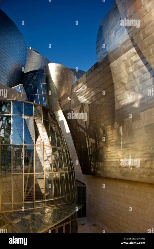 Bilbao Spain Guggenheim Art Museum Stock &
