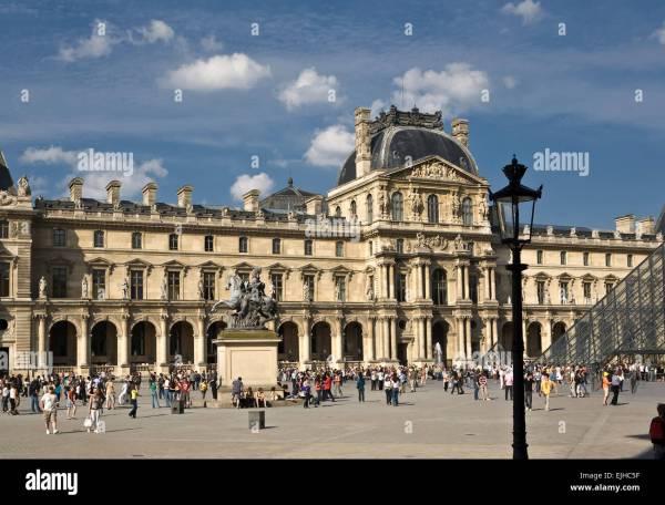 Stock Exterior Louvre Paris