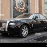 Gleaming Black And Silver Rolls Royce Phantom Motor Car Stock Photo Alamy