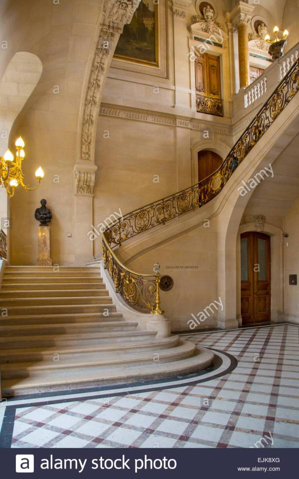 Marble Staircase In Richelieu Section Of Musee Du