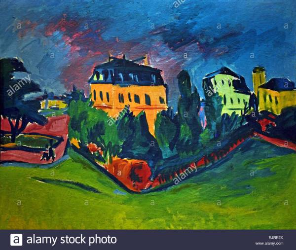 Landscape Dresden 1910 Erich Heckel 1883-1970 German Germany Stock Royalty Free