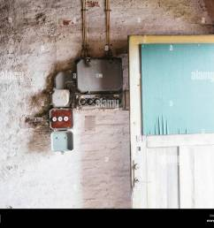 electrical fuse in old house stock image [ 1300 x 1065 Pixel ]