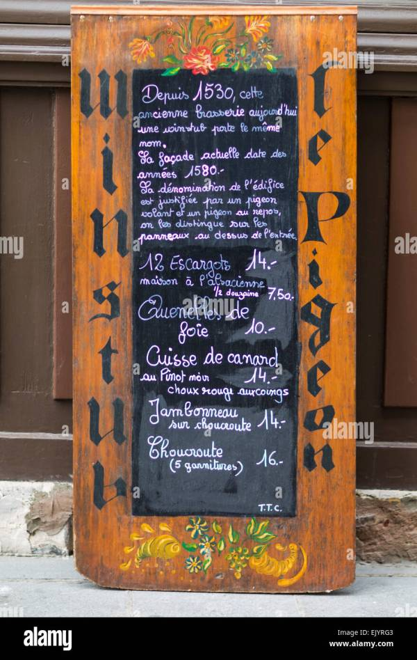 Restaurant Chalkboard Menu Stock &