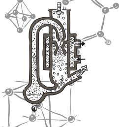 vector drawing scheme of mercury vacuum pump [ 1003 x 1390 Pixel ]