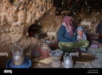 Nomadic Berber, living in caves in the central High Atlas ...