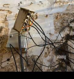 poor electrical wiring in zanzibar stock image [ 1300 x 956 Pixel ]