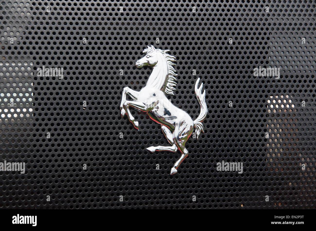 ferrari emblem stock photos