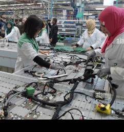siliana tunisia 28th apr 2015 tunisian employees work on a wiring harness [ 1300 x 952 Pixel ]