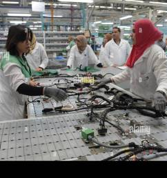 siliana tunisia 28th apr 2015 tunisian employees work on a wiring harness [ 1300 x 935 Pixel ]