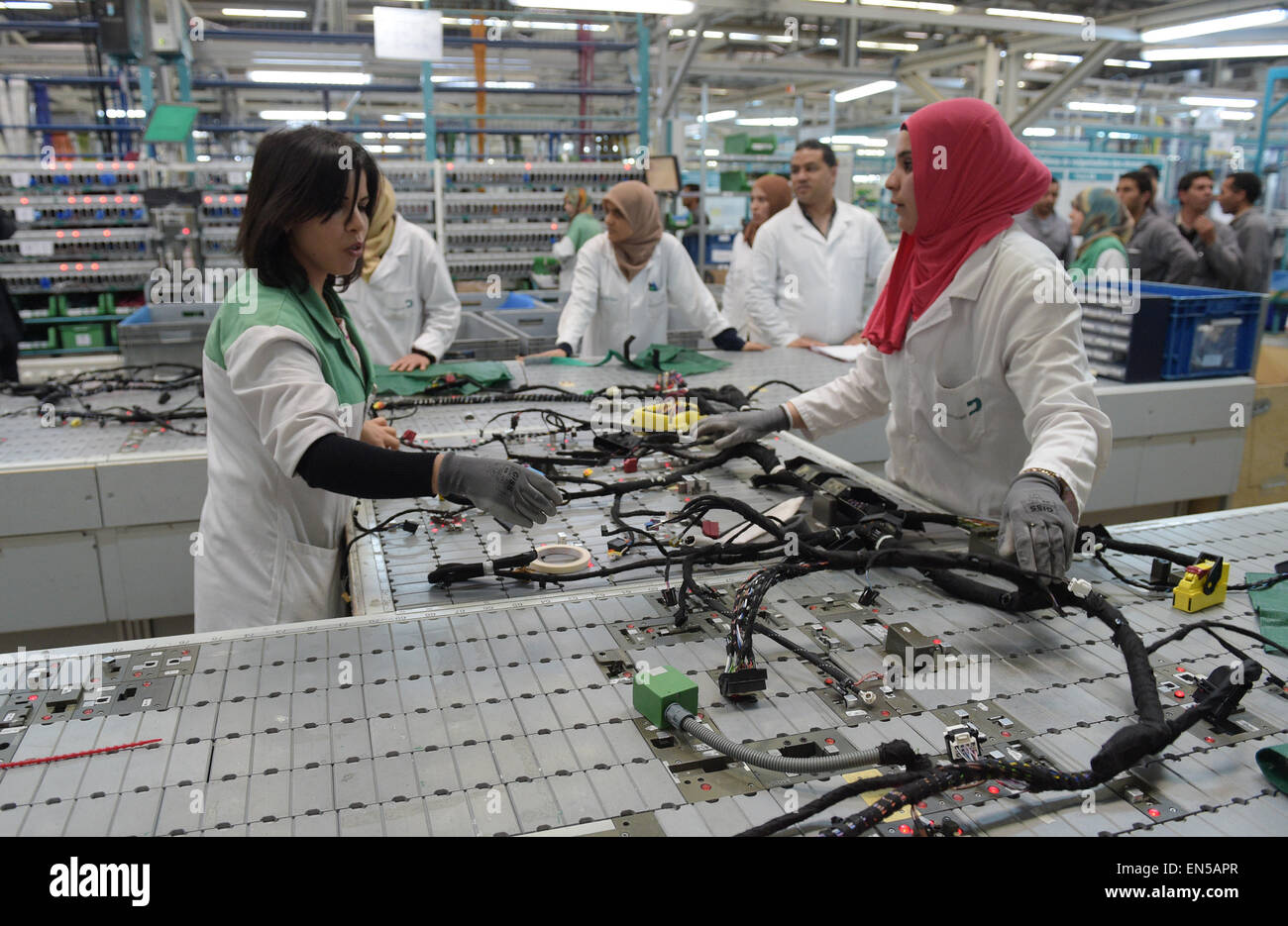 hight resolution of siliana tunisia 28th apr 2015 tunisian employees work on a wiring harness